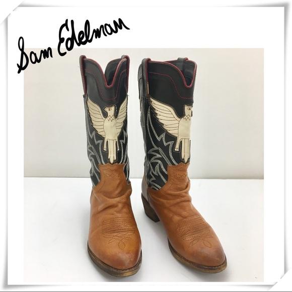5ea98679a Sam Edelman Sheldon cowboy Boots. M 5afe18b1a825a64c0242a732